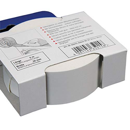 Kantenumleimer für Möbelbauplatten und Regalbretter Weiß 5 m x 30 mm