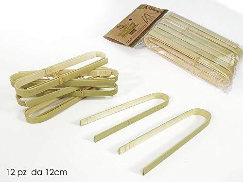 Vily's House Conjunto 12 Pinzas bambú Natural Cocina