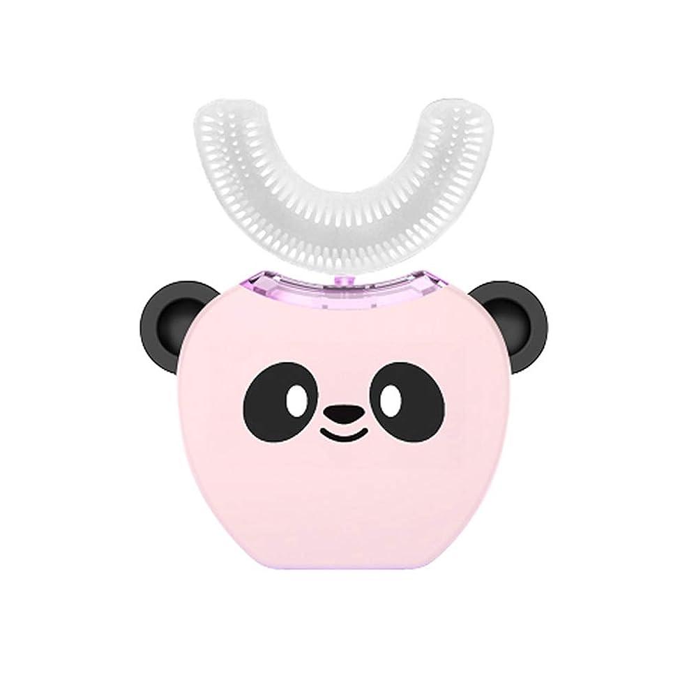 認める幻影熱望する子供のU字型超音波電動歯ブラシ子供自動歯磨き粉360°歯ホワイトニング3-7年子供