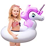Unicorn Pool Float, Pool Floats for Kids Inflatable Unicorn Float for Pool Kids Floaties Swim Rings Summer Toys for 5 10 Year Old Girls Boys Toddlers Child Floating Tubes