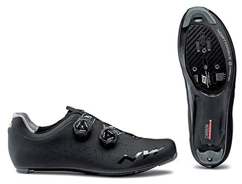 Northwave Revolution 2 - Zapatillas de Ciclismo para Hombre, Color Negro, Blanco, 48