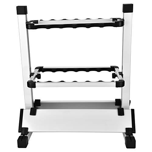 Angelrutenhalter,Angelruten Ständer Rutenständer Angeln Rutenständer für Metall Aluminiumlegierung hält bis zu 12 Ruten für Die Meisten Angelruten-50x45x33cm
