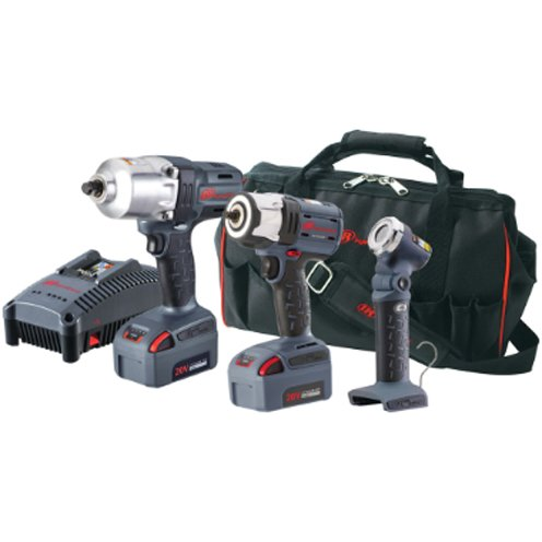 Ingersoll Rand W7150P-K22 - Cordless Impact Wrench-Square with Detent Pin - Reversible, 20 V, Pistol Grip Handle, Drive Size: 1/2 in