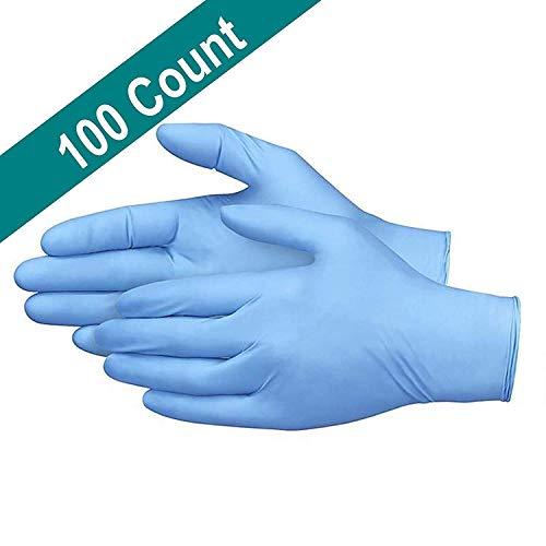 N/A Medizinische Handschuhe Einweghandschuhe blau Butyl Handschuhe Friseur Salon Schönheit Haus Ding Qing Handschuhe 100 Stück M-Code