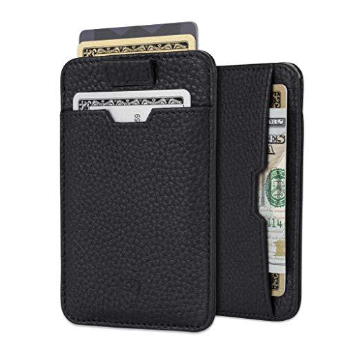 Vaultskin Chelsea - Tarjetero minimalista de diseño fino, en piel, con bolsillo frontal y ranuras para tarjetas, con bloqueo RFID, para hombre
