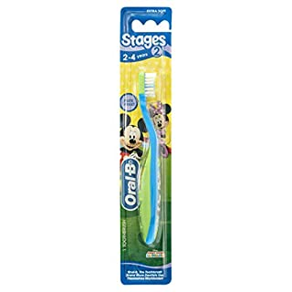 Oral-B Stages 2 Mickey 2 to 4 Years Toothbrush Extra Soft (B00TOIPV1C) | Amazon price tracker / tracking, Amazon price history charts, Amazon price watches, Amazon price drop alerts
