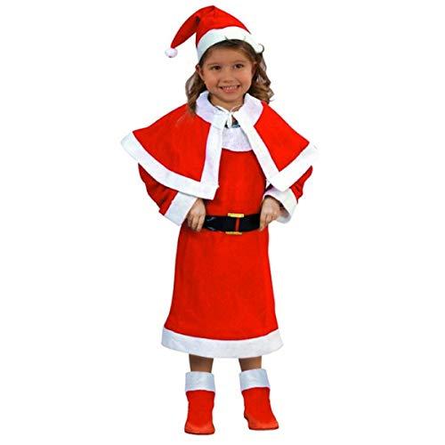 Atosa-69207 Déguisement de Noël pour fille Rouge 5 à 6 ans (69207)