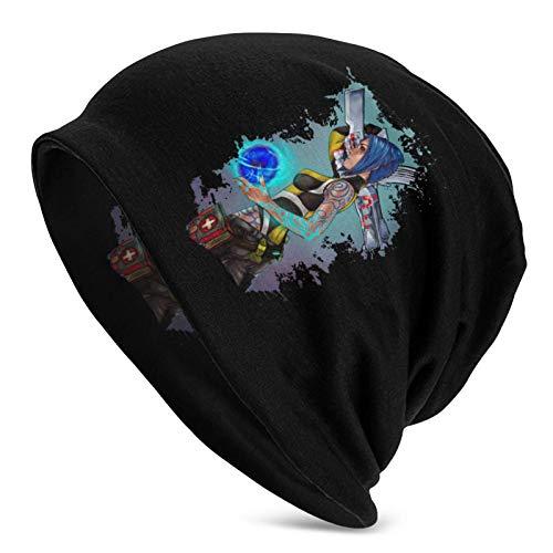 BGDFN Unisex Borderlands 2 Maya The Siren Splatter Fashion Warm Skull Cap Sombrero de Punto para Adultos Negro Talla única