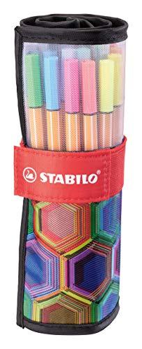 Fineliner - STABILO point 88 - Rollerset con 25 colori assortiti - ARTY Edition