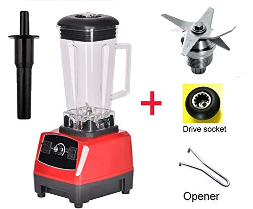 Save %52 Now! 2200W 2L Commercial Grade Home Professional Smoothies Power Blender Food Mixer Juicer Food Fruit Processor,Red Full Parts,Eu Plug