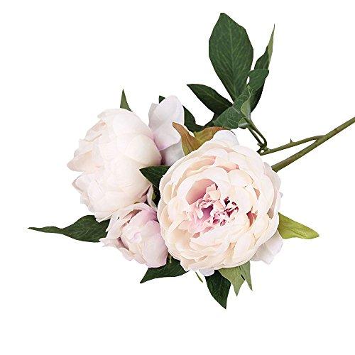 Jia HU 1 Lot Fleurs Artificielles Pivoine de Pivoine arrangements plantes d'intérieur Bureau Décoration extérieure violet