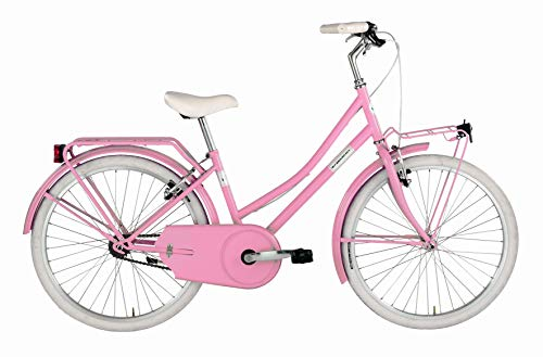 "Alpina Bike Olandesina, Bicicletta Bambina, Rosa Barbie, 24"""