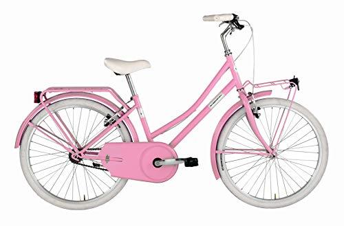 Alpina Bike Olandesina, Bicicletta Bambina, Rosa Barbie, 24'
