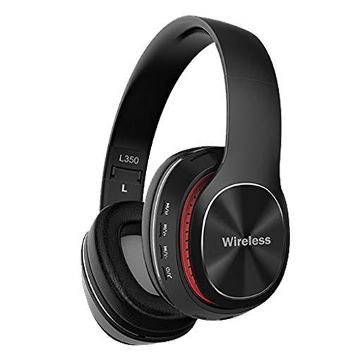 TIREOW Faltbares drahtloses Bluetooth 4.1-Stereo Kopfhörer Headset über dem Ohr mit integriertem Mikrofon für Telefon, PC, Laptop, Tablet (Schwarz)