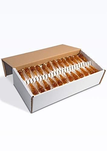 FRUTEG Kandiszucker-Sticks braun I 100 Kandis-Stäbchen im Karton I leckerer Tee-Zucker am Stiel - nicht nur für Ostfriesen-Tee I brauner Kandis-Zucker-Tee-Sticks I braune Kandis-Sticks 100 Stück