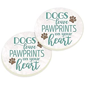 Car coasters with dog quote