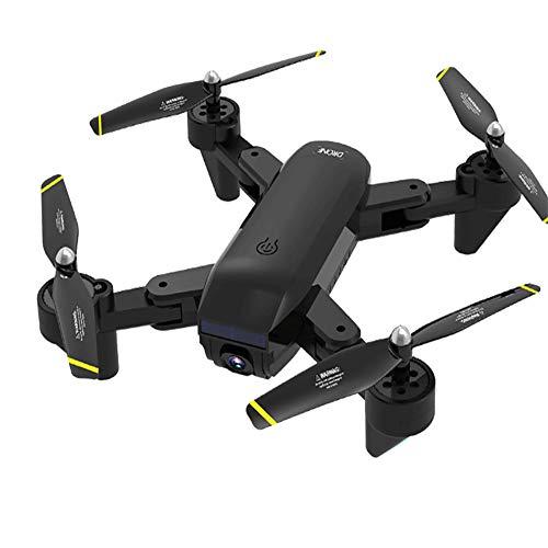 LYHLYH 4K Drone Pliant HD, Double caméra Flux Optique Hauteur Fixe de la caméra vidéo de Geste Quatre Axes pour Les débutants WiFi Vidéo en Direct pour Les Cadeaux Adultes Enfants,Noir