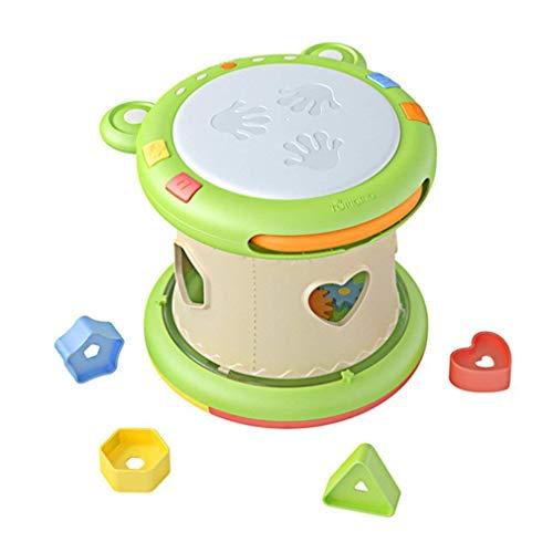 Dirgee Kinder Hand Trommeln Kinder Pat Drum Musikinstrumente Spielzeug 6-12 Monate Musik Spielzeug for Frosch Musik Drum Geschichte Spielzeug (Farbe: Grün) (Color : Green)