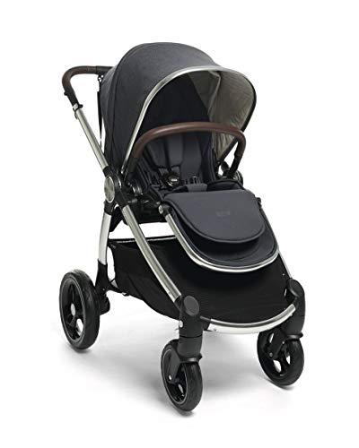 Mamas & Papas Ocarro All Terrain Puschair, Buggy, Pram, One Hand Fold, Puncture-Proof Tyres, Extendable Hood & Adjustable Lie Flat Seat - Navy - Navy