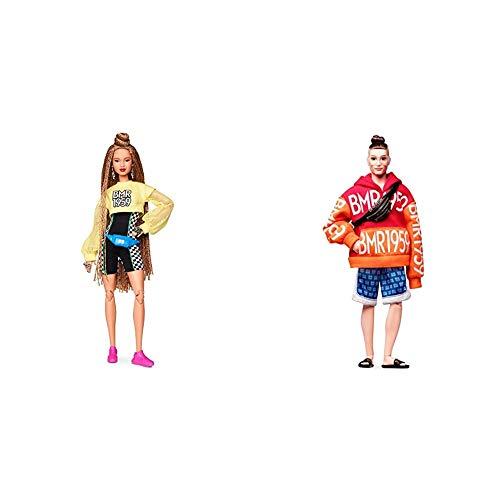 Barbie Muñeca BMR 1959, Look pantalón Ciclista, Regalo para niñas y niños 3-9 años (Mattel GHT91) , Color/Modelo Surtido + Ken Muñeco BMR 1959, Look moño