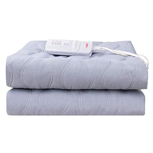 YEZI Manta eléctrica - Manta térmica calefacción colchón Controlador de Temperatura Temperatura Ajustable Se Puede Eliminar los ácaros 1,8 * 1 m (Color : Gray, Tamaño : 1.8 * 1m)