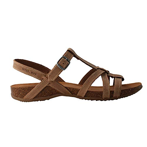 INTERBIOS 4408 Damen Sandalen Leder Beige, Beige - beige - Größe: 40 EU