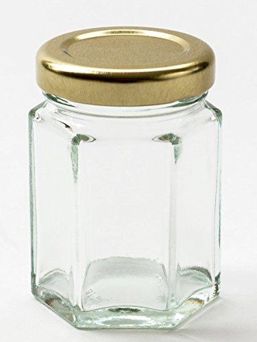 110 ml vasetti di marmellata di Nutley, esagonali, 50 Pezzi