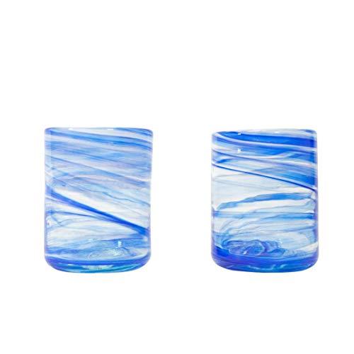 ANTONI BARCELONA Vaso de Agua by Lafiore Azúl Set de 2 Vasos...