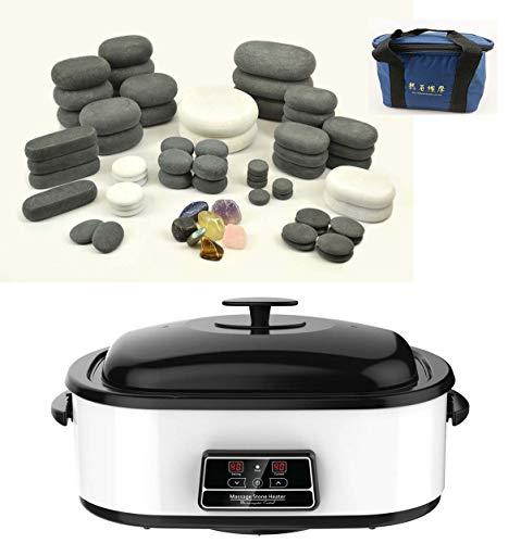 MassageMaster HOT/Cold Stone Massage KIT: 68 Basalt/Marble Stones + 17...