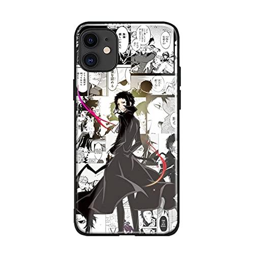Ryunosuke Akutagawa Bungo Stray Dogs Anime Soft TPU Glass Phone Case for iPhone SE 6 7 8 Plus X XR XS 11 12 Mini Pro MAX