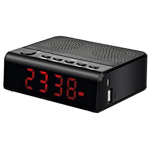 Altavoz Bluetooth DKEE Llamadas de Audio portátil inalámbrico Bluetooth FM Radio Reloj de Alarma del Altavoz Apoyo TF Lector de Tarjetas USB MP3 de un teléfono Manos Libres