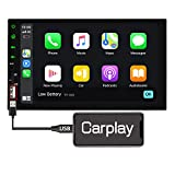 Binize 7 Inch Double DIN Touch Screen Car Stereo with Apple Carplay MP5 Player/FM/AM/Bluetooth/Voice Control/Mirror Link/Support Backup Camera/SD/AUX/USB/Remote