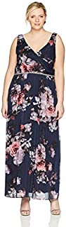 S.L. Fashions Women's Plus Size Floral Maxi Dress