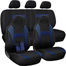 Motorup America Auto Seat Cover Full Set - Fits Select Vehicles Car Truck Van SUV - Blue & Black