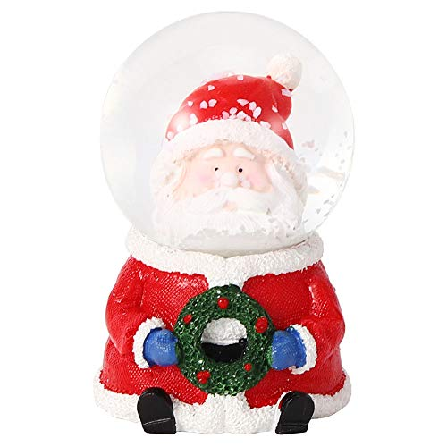 Haofy Santa Crystal Ball,Christmas Snow Globe Desktop Mini Luminous Santa Claus Crystal Ball Ornament Party Decoration