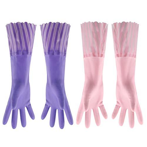 MILISTEN 2 Paar Afwashandschoenen Huishoudhandschoenen Antisliphandschoenen Schoonmaakhandschoenen