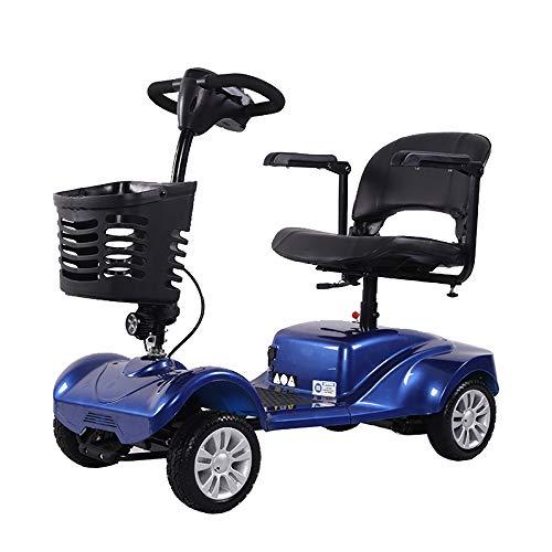 Elektrische scooter met 4 wielen, elektrische mobiel voor senioren, scooters E-mobil, seniorenvoertuig, 45 cm zitbreedte 8 km/h