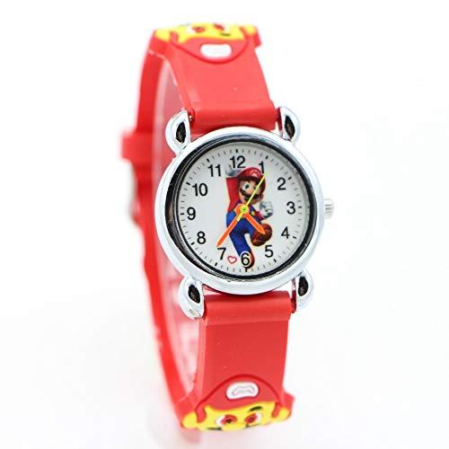 FENGHE Super Mario Spielzeug Neue 3D Cartoon Super Mario Puppe Kinder Uhr Kinder Kinder Mädchen Jungen Studenten Quarz Armbanduhren Supermario