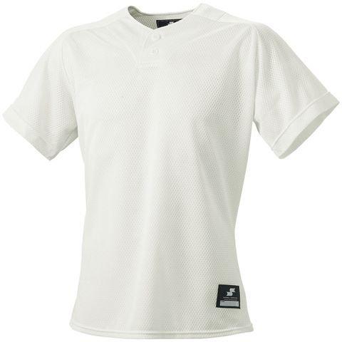 [エスエスケイ] ベースボールウェア 2ボタンプレゲームシャツ(無地) [メンズ] BW1660 アイボリー (12) 日本 M (日本サイズM相当)