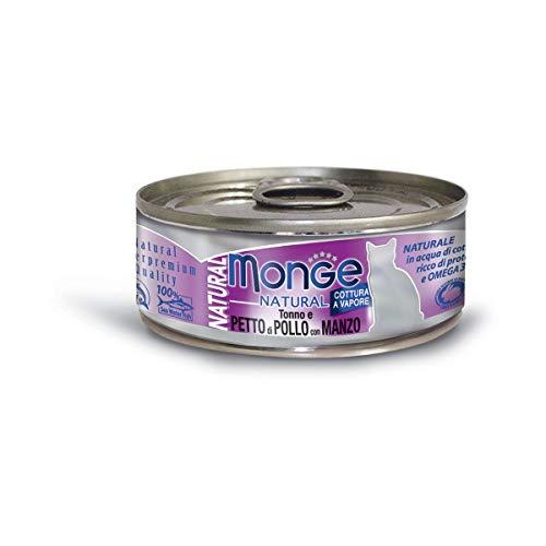 MONGE - MONGE NATURAL TONNO E PETTO DI POLLO CON MANZO 80 GR. - 0593