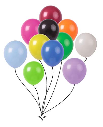 King's deal 200(10color x 20) Latex Balloons - 11 Inch Wedding, Birthday Party, Baby Shower, Christmas Party Decorations