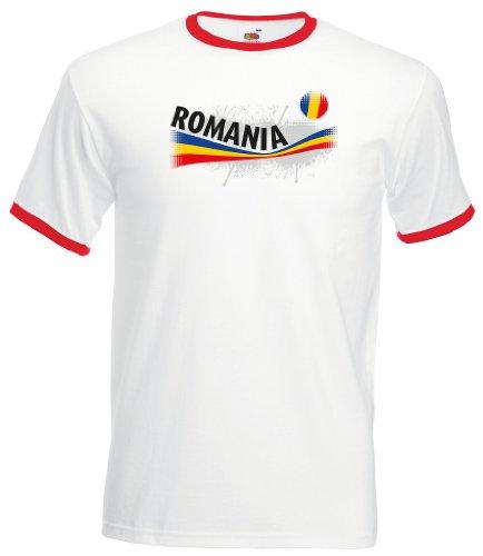 Romania / Rumänien Herren T-Shirt Vintage Retro Trikot XXL