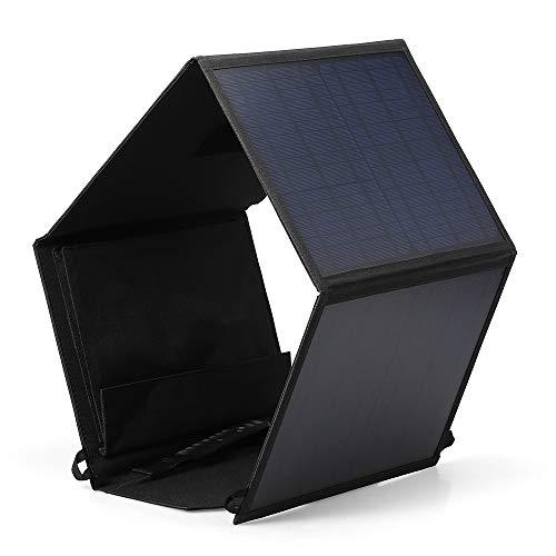 TRF Panneau Solaire Pliable, 40W Panneau Solaire Portable Chargeur - Smart Chip USB et DC Port, Anti-buée étanche, Facile à Transporter - pour Camping en Plein air et randonnée