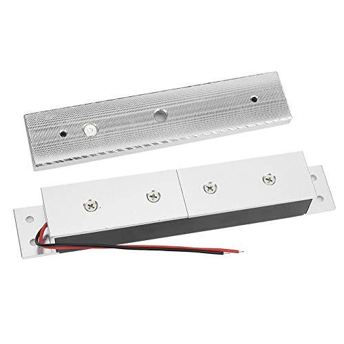 Accesorios para Puertas Cerradura magnética de Pulido de Superficie de 280 kg / 617 LB Metal de Madera de 12 V para instalación de Puertas cortafuego para Apertura y Cierre automático