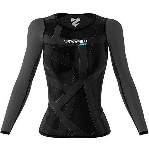 SMMASH Vitrage Damen Langarm Top, Atmungsaktiv und Leicht Compression Shirt, Longsleeve Damen, Gym Top Funktionsshirt für Crossfit, Fitness, Yoga, Sport Langarmshirt Hergestellt in der EU