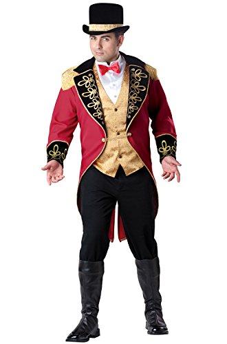 InCharacter Costumes Herren Zirkus-Kostüm Ringmaster - Mehrfarbig - XX-Large