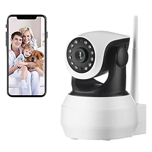 AINSS Cámara de Seguridad Interiores,Cámara de vigilancia IP WiFi,CCTV PTZ 1080P HD bebés Monitor,visión Nocturna,detección de Movimiento,Control Remoto,Voz bidireccional,Alarma (Cámara WiFi)
