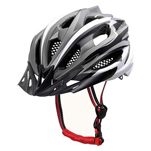 X-TIGER Bicicleta Casco Adulto Unisexo con Certificado CE,Visera y Forro Desmontable Especializado para Ciclismo de Montaña (Blanco)