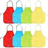 8 Delantales Impermeables para Niños| Colores Vibrantes, Ajustable, Resistente, Fácil de Limpiar, Lavable| Fiestas de Cumpleaños Juegos Actividades Creativas Manualidades Pintura Cocinar Escolar.