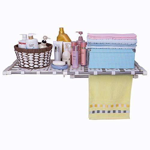 Hershii Tension Shelf Expandable Rod Closet System Heavy Duty Clothes Hanger Adjustable DIY Garage Bathroom Kitchen Storage Organizer Shoe Rack, Plant Stand, Bookshelf